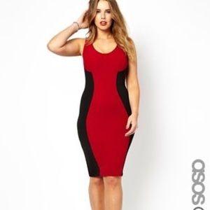 ASOS Curve Ribbed Bodycon Dress